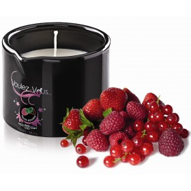 Bougie de massage gourmande Fruits rouge - 180 gr